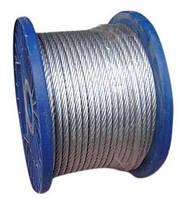 Трос в пвх оболочке DIN 3055 6/8 mm (бухта 100 м)