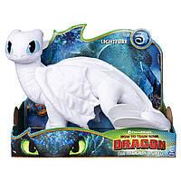 Дракон Дневная Фурия мягкая игрушка 35 см. Как приручить дракона 3 -Dreamworks Dragons Lightfury - Spin Master