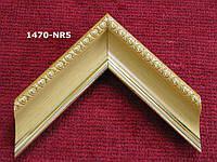 Багет для оформления яркого золота цвета с резьбой. Рамы для картин.