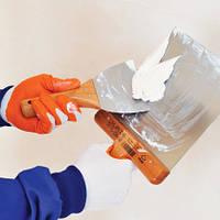 015 - Шпатель нержавеющий Profi 100 мм SOFT Grip с деревянной ручкой, фото 1