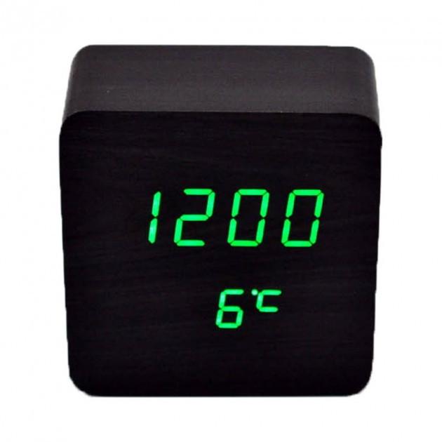 Электронные часы VST-872 Черные – Зеленая подсветка
