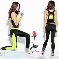 Трикотажный костюм для занятий фитнесом  GR20482 в расцветках, фото 1