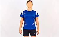 Форма волейбольная женская MIZUNO PRESTIGE CO-6482-LB (Coolmax, шорты-хлопок, р-р S-XL(42-48), синий-белый) Re