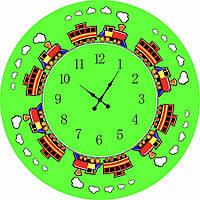 """Часы настенные """"Паровозик"""" Д=350 мм"""