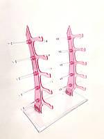 Стійка для окулярів рожева, фото 1