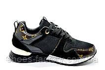 Женские кроссовки в стиле Louis Vuitton, Black, фото 2