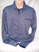 Рубашка мужская притал. ZOMANA синяя в мелкую полоску.(M,L,XL,2XL,3XL), фото 1