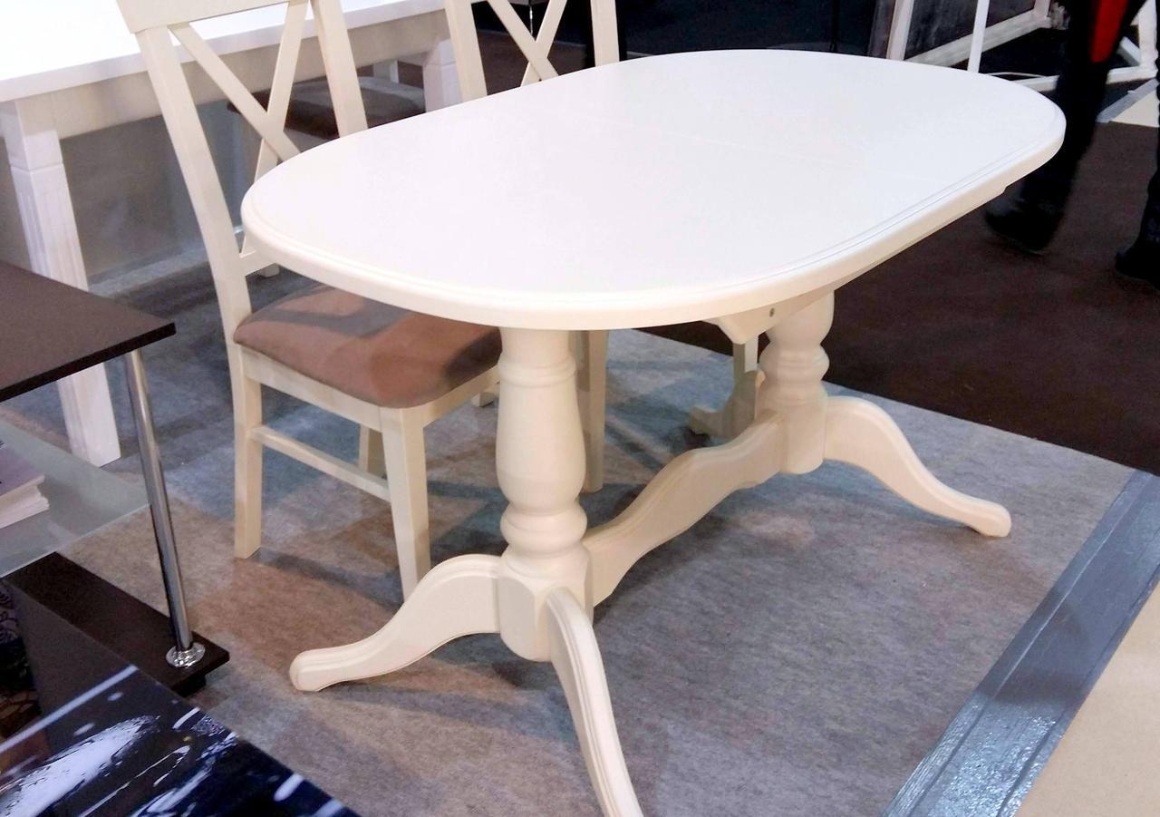Стол овальный раскладной Даниэль  Fusion Furniture, цвет    бежевый RAL1015