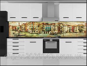 Кухонный фартук из стекла - скинали Венеция винтаж