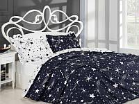 Постельное белье ранфорс полуторный размер Star (kod 3994)