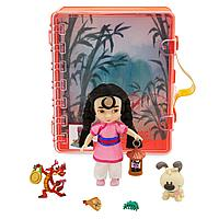 Игровой набор малышка Мулан в чемоданчике, Disney Animators' Collection Mulan Mini Doll Playset