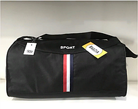 6f4fb6ff13a5 Спортивная сумка-бочка Sport модель 1905 материал меланж цвет черный