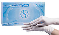 Перчатки медицинские смотровые латексные неопудренные Smpercare Edition ТМ «IGAR»,  размер L (упаковка 50 пар)
