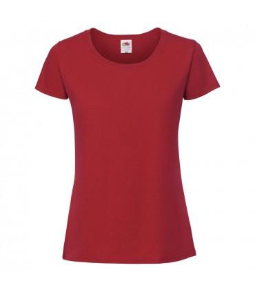 Женская футболка плотная красная 424-40