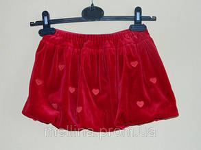 Юбка для девочки велюровая на рост 98 см., бренд OVS