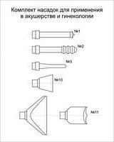 Комплект насадок для акушерства и гинекологии 5 шт