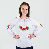 Вышиванки детские блуза Маки-колоски от  3- х  до 13 ти  лет, фото 3