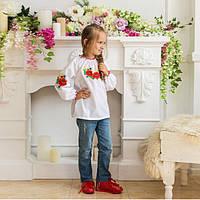 Вышиванки детские блуза Маки-колоски от 3- х до 13 ти лет