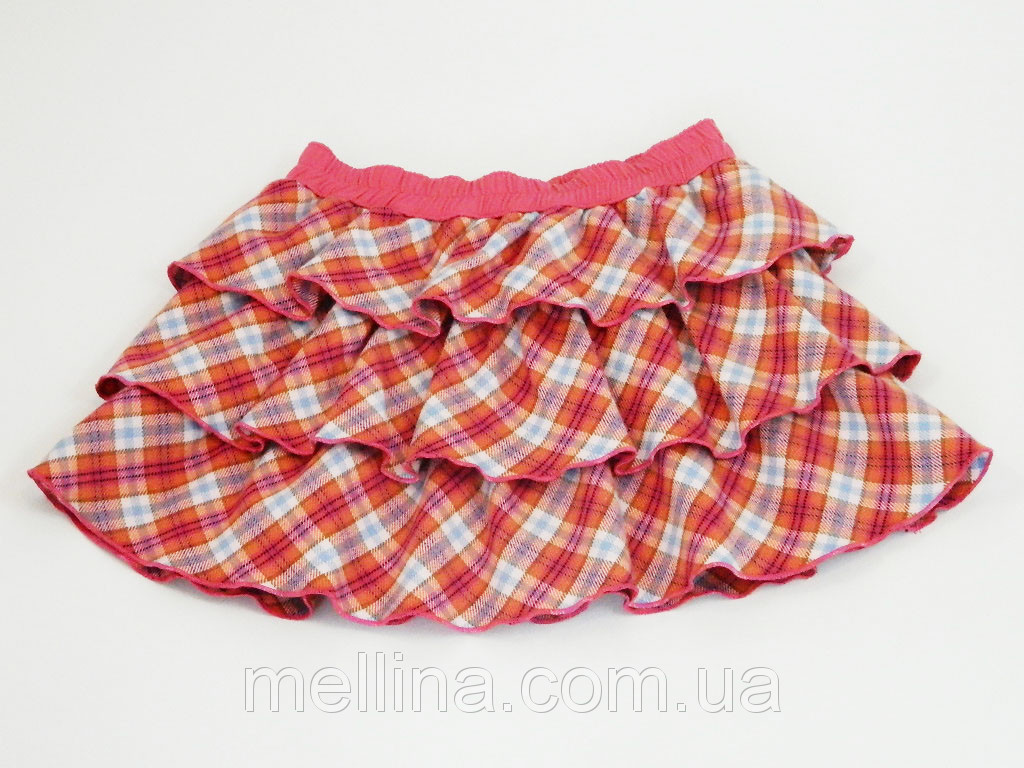 "Юбка детская для девочки Шотландка на рост 80 и 86 см., бренд ""Iana"""