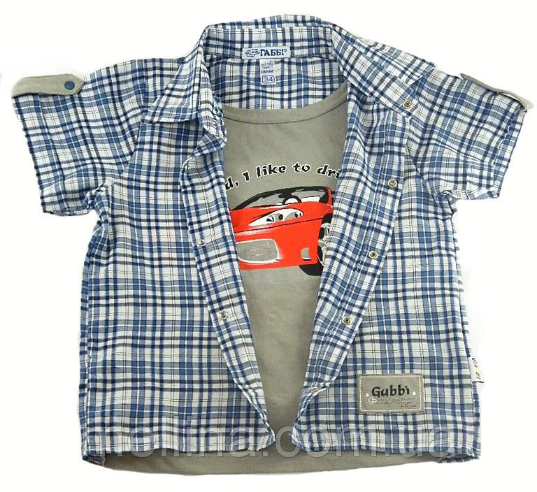 Рубашка для мальчика на рост 128-134 см., Machine