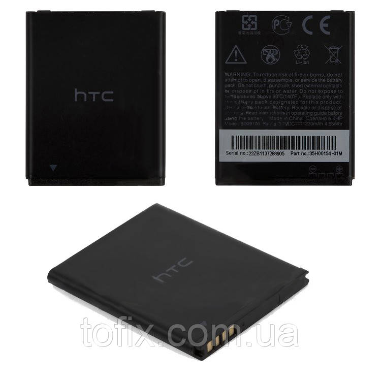 Батарея (акб, аккумулятор) BD29100, BA S540 для HTC Explorer A310e, 1230 mAh, оригинал