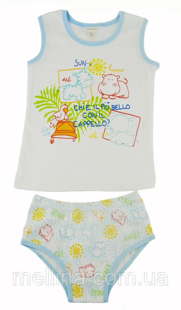 """Комплект детский: майка и трусики для мальчика на рост 98 см, бренд """"OVS"""""""
