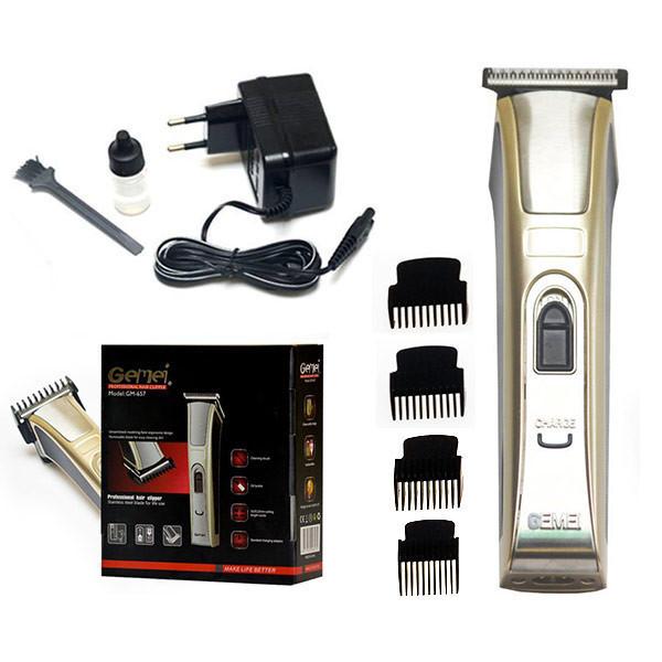Аккумуляторная бритвенная машинка Gemei GM 657 портативная для бороды