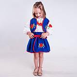 Синий  костюм с  вышивкой гладью  от 1  до  10  лет (1-2 года), фото 2