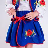 Синий  костюм с  вышивкой гладью  от 1  до  10  лет (1-2 года), фото 4
