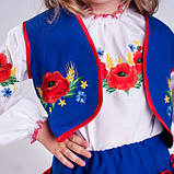 Синий  костюм с  вышивкой гладью  от 1  до  10  лет (1-2 года), фото 10