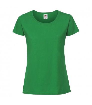 Жіноча футболка щільна зелена 424-47