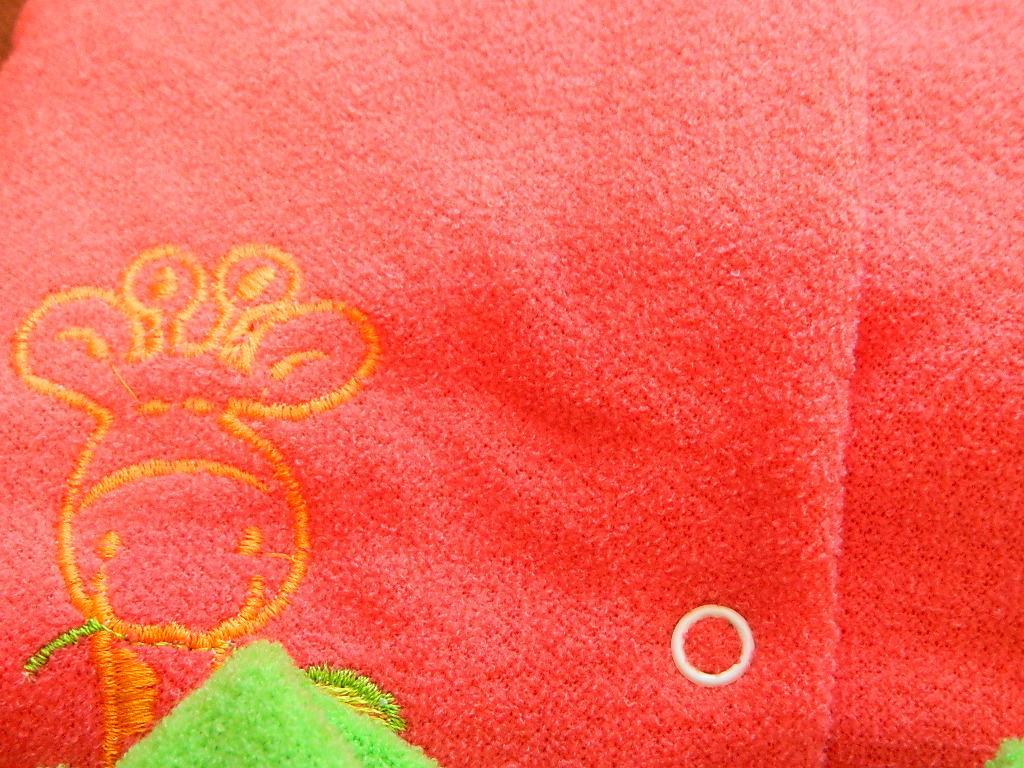 Комплект махровый тёплый, в наличии только красный цвет, 74-80 см