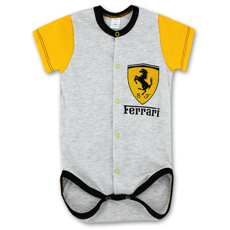 Боди-распашонка детский для мальчиков Ferrari