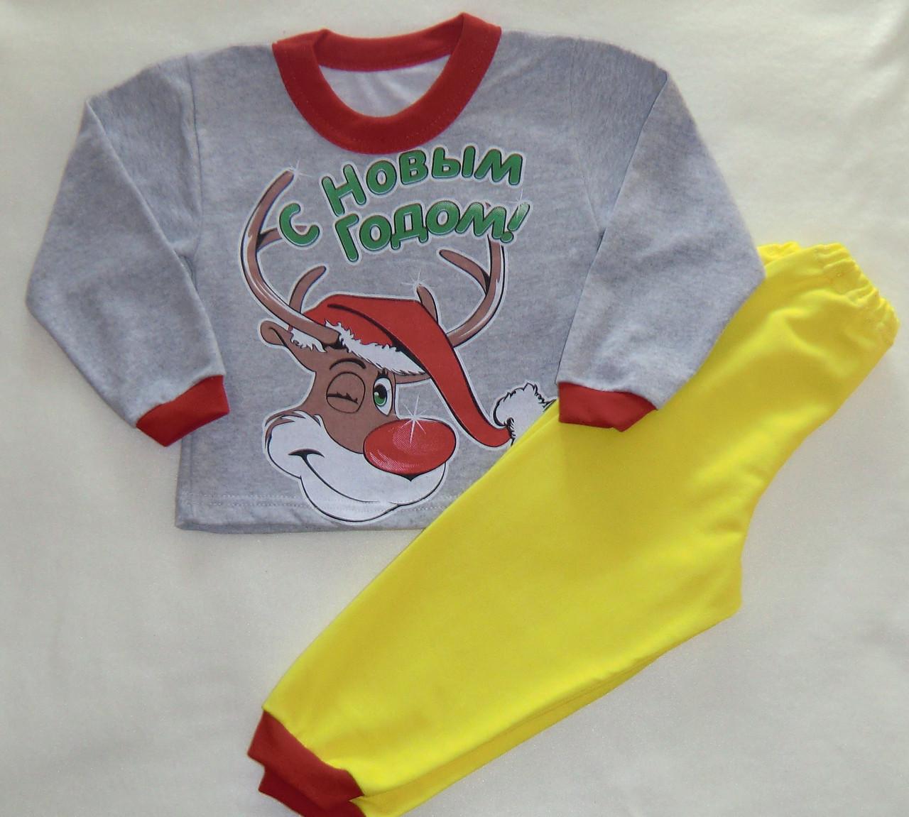 Детская теплая пижама новогодняя Kai