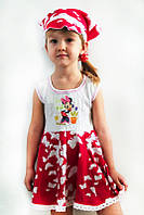 Летнее платье с косынкой для девочки Рапунцель