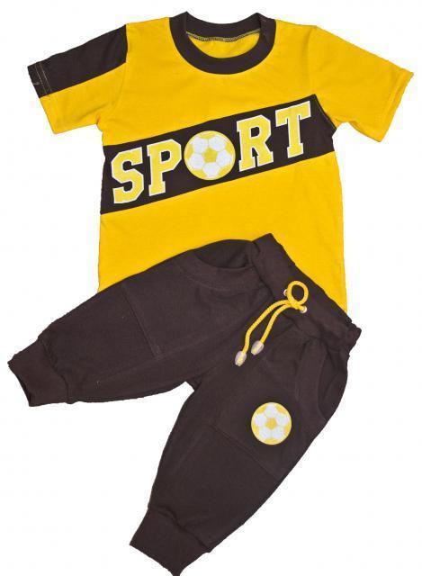 Комплект для мальчика, футболка и шорты Спорт