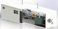 Блочная модульная котельная на твердом топливе 50 кВт БМ-А-0.0.0.0