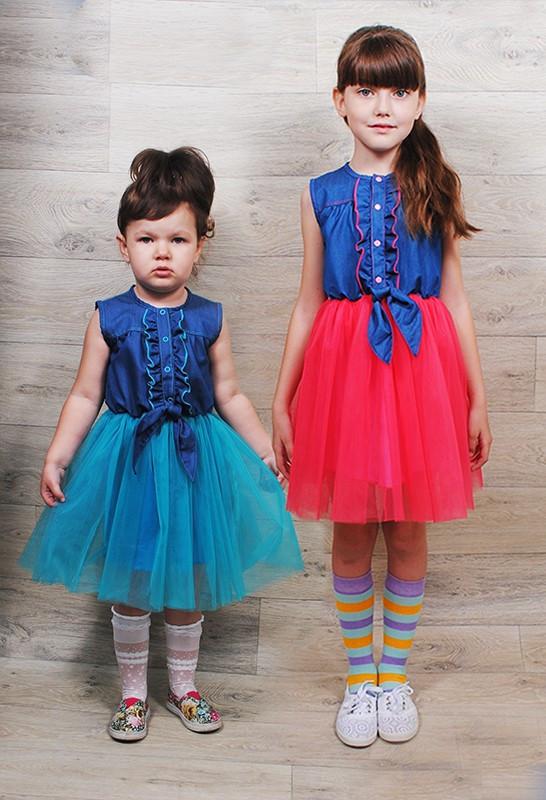 Летнее платье для девочки Балерина на рост 104-110 см