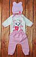 Детский костюм для девочки, размеры от рождения до 1 года Малышка-панда, фото 2