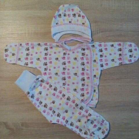 Теплый комплект для новорожденной девочки Нежность