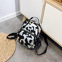 Женский маленький рюкзак серебро, фото 1