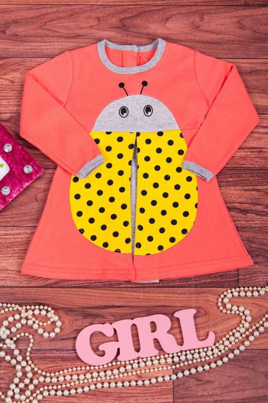 1c409cd9c20 Теплое платье для девочки Божья коровка - Интернет магазин MeLLina