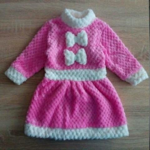 Платье детское Снегурочка. Новогоднее платье для девочки