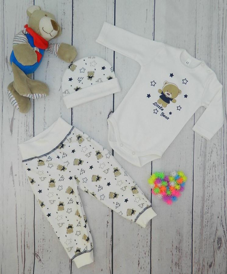 Комплект тройка для новорожденного мальчика Bear