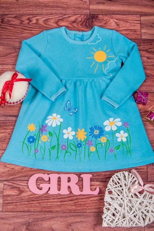 Платье для девочки тёплое с начёсом Vivid
