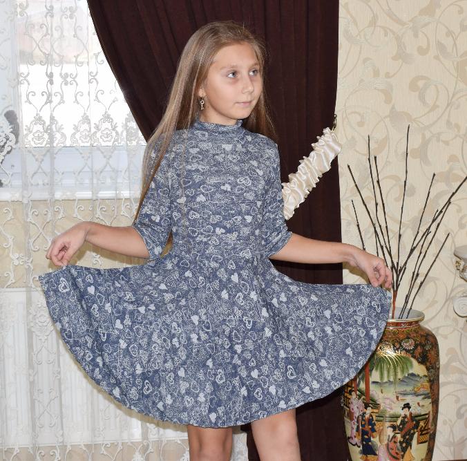 Платье для девочки Алиса, на рост 130-140 см