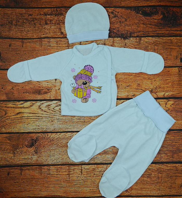 Комплект белый-ясельный Малютка для новорожденной девочки