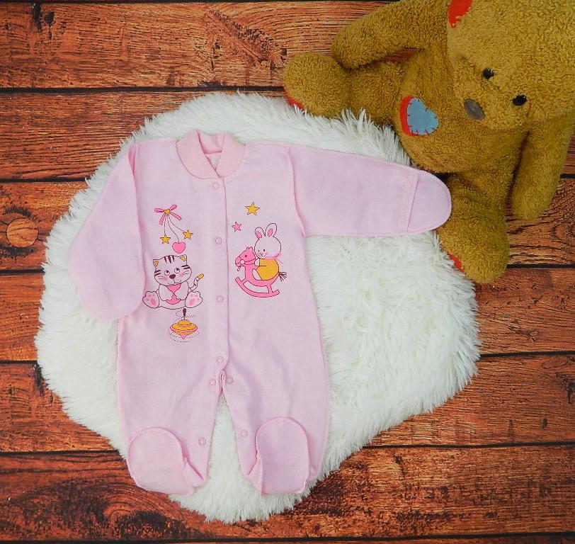Комбинезон для новорожденной девочки с начесом Wishes
