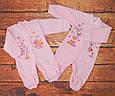 Комбинезон для новорожденной девочки с начесом Wishes, фото 2