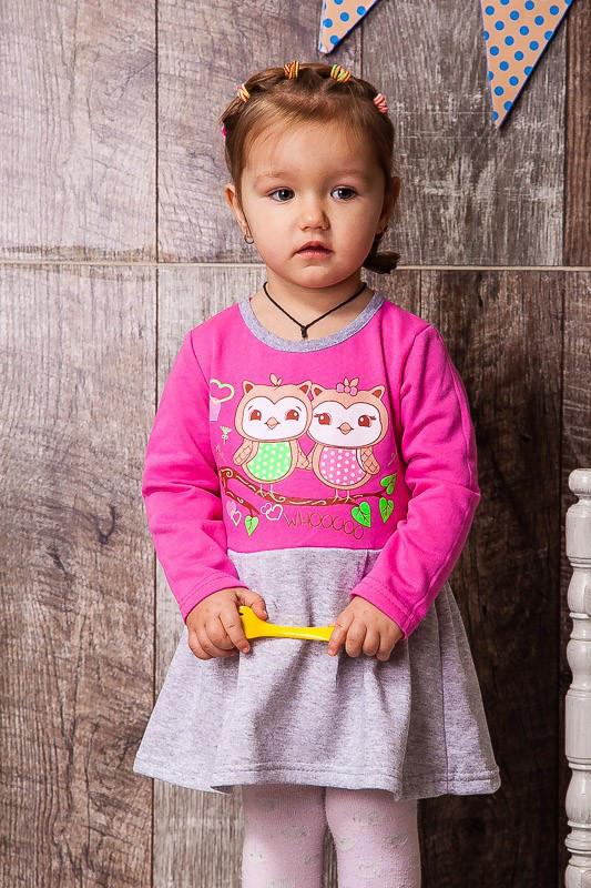Платье тёплое для девочки. Детское платье Нюра